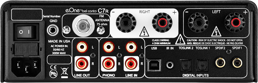 C7R Integrated Amplifier back eOne