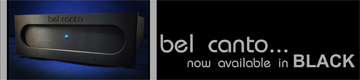 Black Faceplate Option for All Bel Canto Units